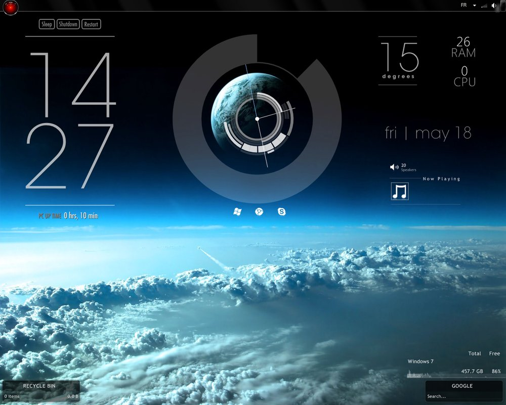 Image gallery simple rainmeter for Bureau windows 7 rainmeter