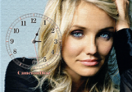 Cameron Diaz Clock Screensaver