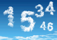 Digital Clock Clouds Screensaver