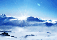 Sun And Snow Screensaver