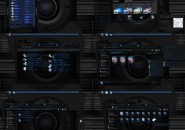 black and blue onix Windows 7 Visual Styles