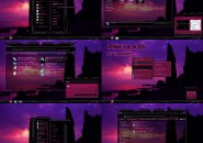 pink glass Windows 7 Visual Styles