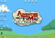 Adventure Time Rainmeter Skin for Windows7
