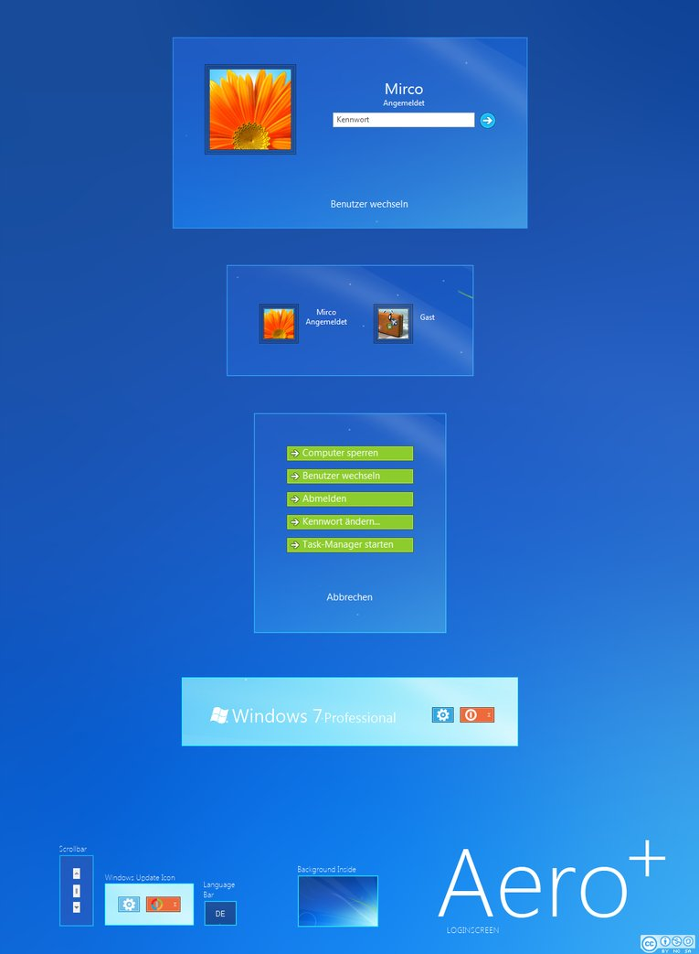 Aero Windows7 Logon Screen