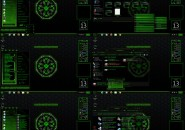 Alien Corp Windows7 Rainmeter Theme