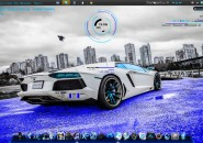 Blue Crimson Windows7 Rainmeter Theme