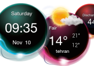 Clock Light Rainmeter Skin