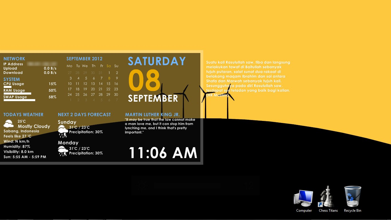 Essential windows7 rainmeter skin for Bureau windows 7 rainmeter