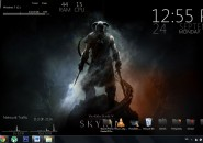 Fire Voice windows7 Rainmeter Theme