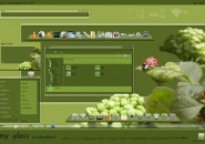 Green Nature Windows Blind Theme