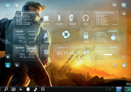 HeadsUp Halo Windows7 Rainmeter Theme