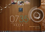 Mapple Wood Windows7 Rainmeter Skin