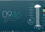 Monsoon Windows7 Rainmeter Theme