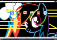 Neon Dash Rainmeter skin for Windows7