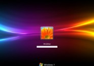 Rainbow Wave Windows 7 Logon Screen