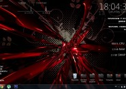 Redfire Windows7 Rainmeter Theme