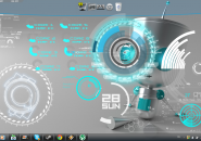 Supra Robot Rainmeter Theme for Windows7