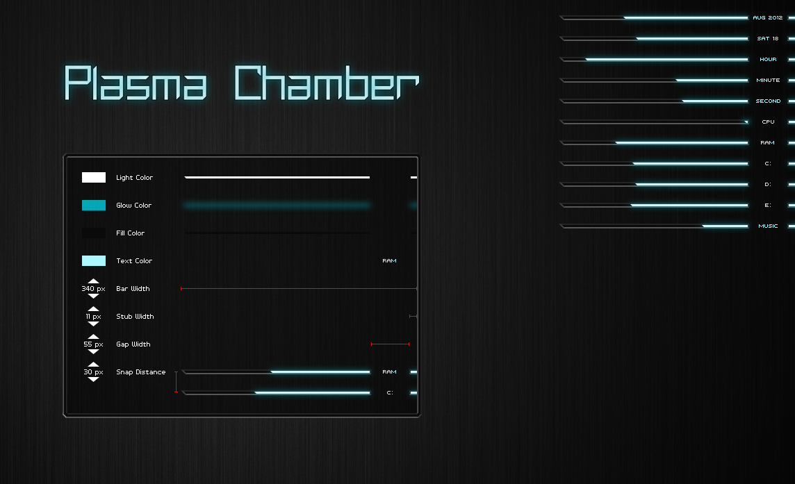 Plasma chamber windows7 rainmeter skin for Bureau windows 7 rainmeter