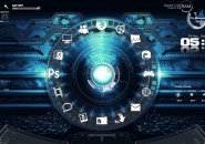 Blue Circle Rainmeter Theme for Windows7
