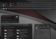 Dynamic black Visual Style Theme for Windows7