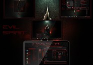 Evil Spirit Visual Styles for Windows7