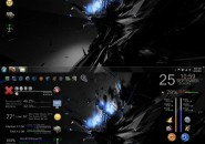Hidden Consalt Rainmeter Theme for Windows7