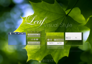 Leaf Visual Style Theme for Windows7