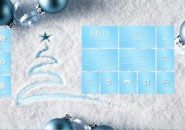 Merry Christmas Rainmeter Theme for Windows7