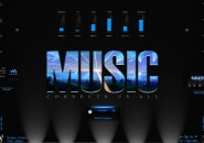Music Lights Rainmeter Theme for Windows7