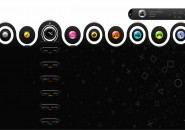 PS3 Swivel Rainmeter Theme for Windows7