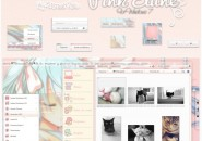 Pink Elune Visual Style for Windows7