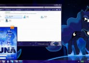 Princess Luna Visual Styles for Windows7