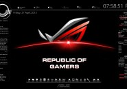 ROG Rainmeter Theme for Windows7