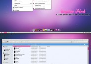 Uvytae Pink Visual Styles for Windows7