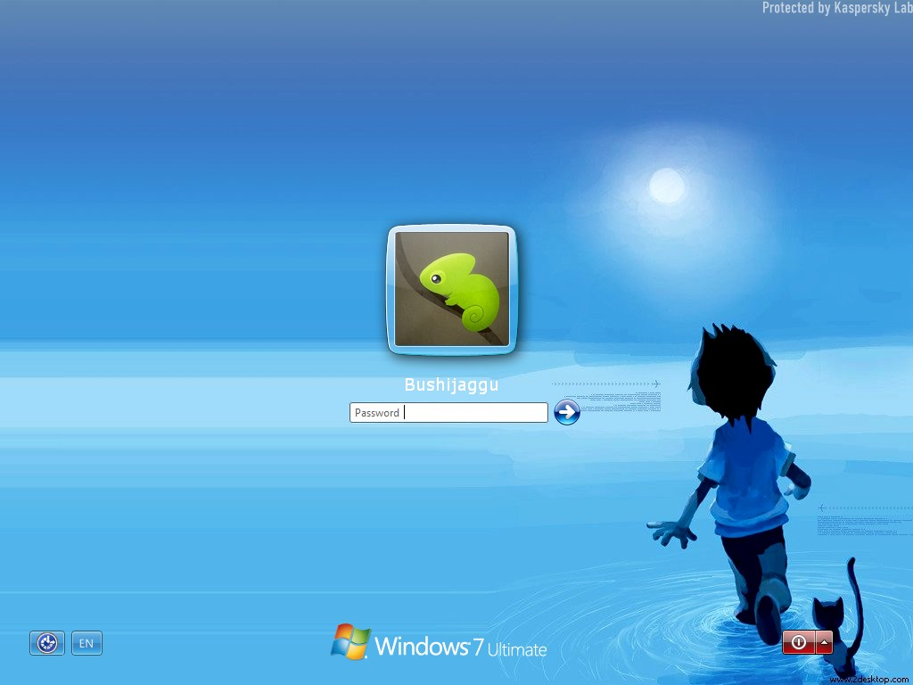 how to change screen blackout on windows 7