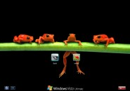 Red Frogs Logon Screen for Windows7