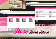dark black rose