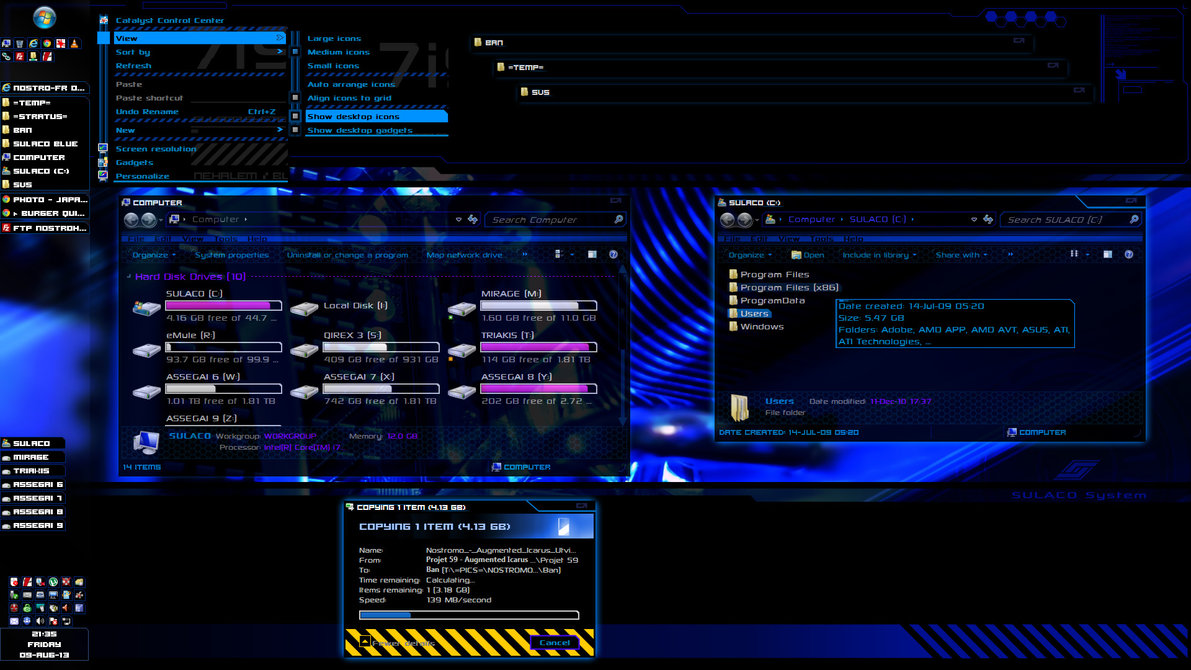Sulaco Windows 7 Theme