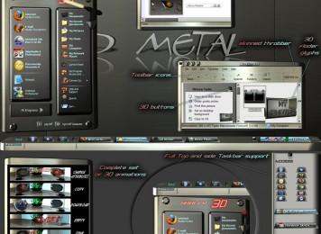 3D metal Windows Blind Theme