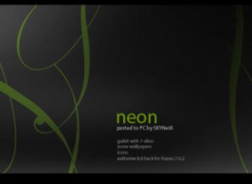 Neon Windows Blind Theme