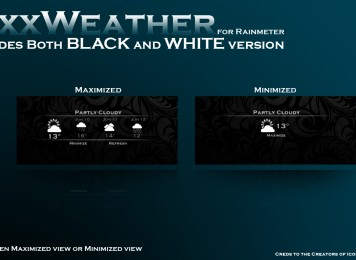 Toxx Weather Rainmeter Skin