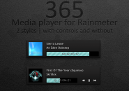 365 Media Player Windows 7 Rainmeter Skin
