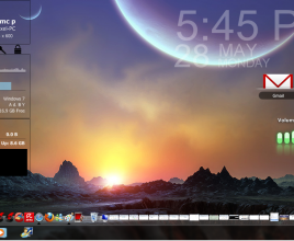 A Rising Dawn Rainmeter Skin