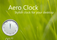 Aero Grass Clock Rainmeter Skin