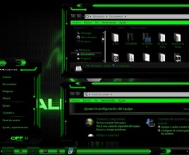 Alienware green theme for windows 7
