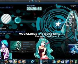 Aqua Hatsune Miku Rainmeter Theme For Windows 7