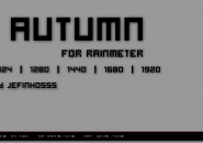 Autumn Grey Black Rainmeter Theme For Windows 7