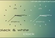 BW Clock Windows 7 Rainmeter Skin