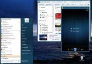 Basic dark blue theme for windows 7
