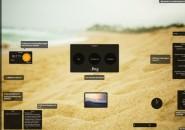 Beach shore Rainmeter Skin